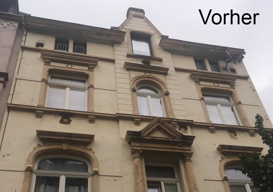 Fassade Anstrich Vorher